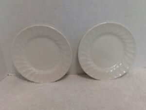 Image is loading Churchill-China-Chelsea-White-Bread-Butter-Plates-Made- & Churchill China Chelsea White Bread/Butter Plates Made in England ...