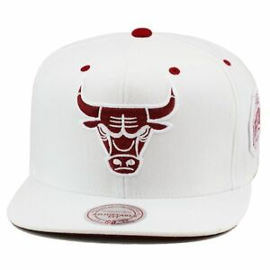 ed4fc2385c1 ... inexpensive mitchell ness chicago bulls snapback hat all white maroon  for jordan 6 retro 48ad7 bae07