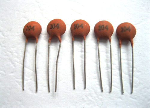 Nicely 100pcs//bag Ceramic Disc Capacitors 50V 100nF 0.1uF 104pF UK EW