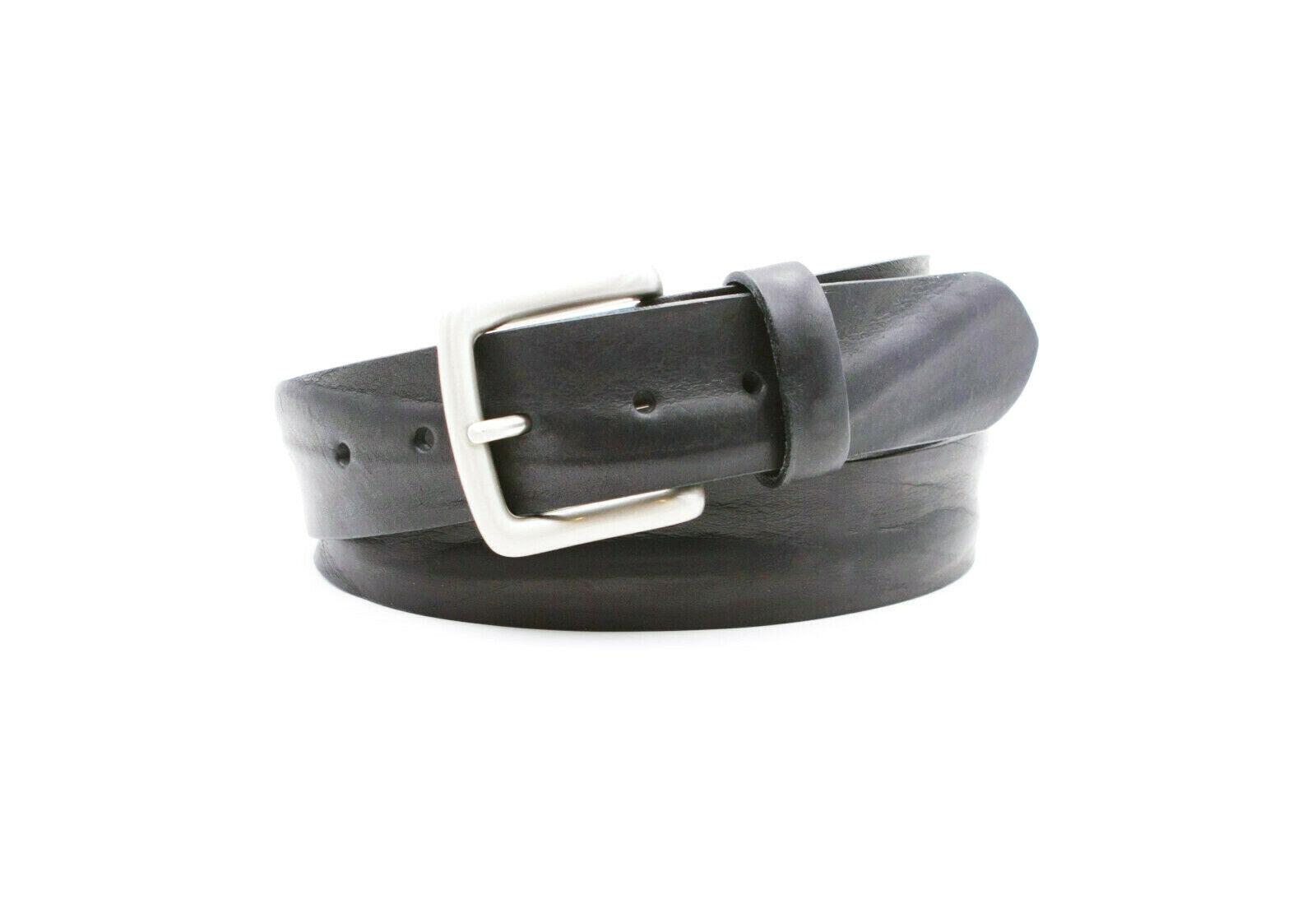 Ledergürtel Herren Echtleder Schwarz Leder Gürtel breit Jeansgürtel 4 cm