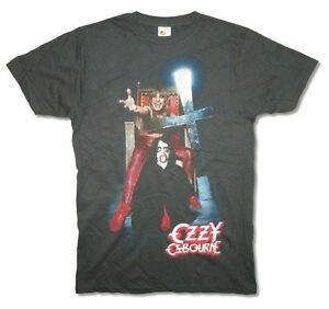 Ozzy-Osbourne-Speak-of-the-Devil-Mens-Faded-Black-T-Shirt-New-Official-Adult