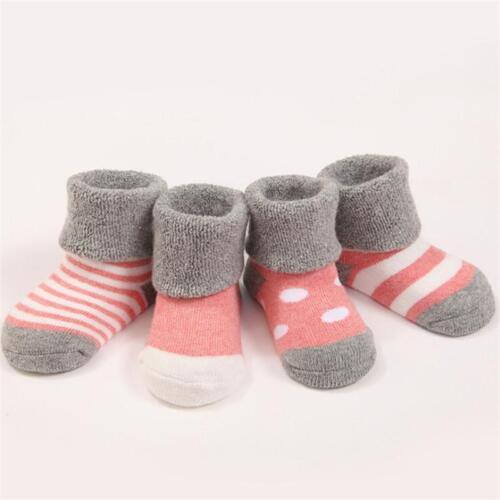 Girls Cosy Bed Slipper Socks Childrens Winter Gripper Toddler Baby T