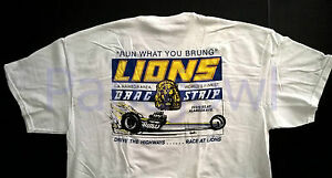 """""""Run What You Brung"""" LIONS DRAG STRIP T Shirt Long Beach, Ca. Ford Chevy Mopar"""