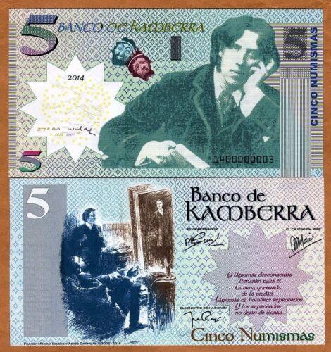 UNC /> Oscar Wilde /> Upgraded Kamberra 5 Numismas 2014