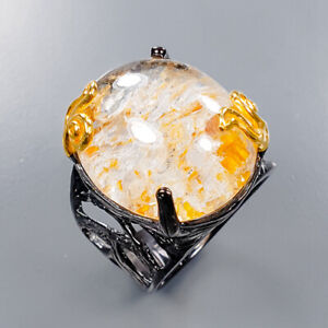 Ghost Quartz Ring Silver 925 Sterling Special Sale Price Size 9.5 /R138176
