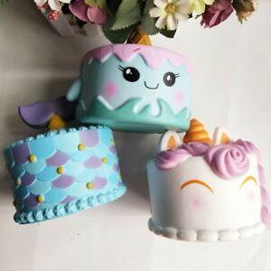 Jumbo Squishy Soft Slow Rising Unicorn, Narwhal Mermaid Cake Reduce Stress Toy eBay