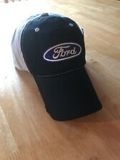 GENUINE FORD PARTS HAT Black SnapBack  Relaxed-Fit Trucker Distressed Men Women