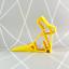 3D Imprimé-Bunny-décoration maison-Géométrique-Décoration Moderne Lapin Butoir pour portes