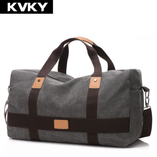 Vintage Men Canvas handbag High Quality Travel Bags Large Capacity Women Luggage