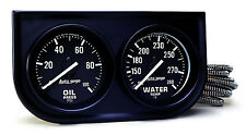 "Auto Meter Autogage 2 Gauge Oil Press / Water Temp Black Console 2-1/16"" (BLACK)"