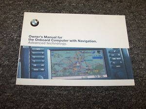 2001 BMW X5 M5 M3 320i 325i 330i Navigation System Owner Owner's Operator Manual