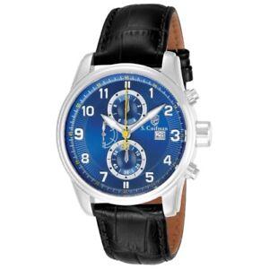 S-Coifman-SC0304-43mm-Heritage-Quartz-Chronograph-Leather-Strap-Mens-Watch