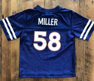Details about Denver Broncos Jersey #58 Von Miller Youth Size 4T NFL Team Apparel Blue Kids