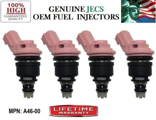 91-99 Nissan NX /& 200SX /& Sentra 1.6L I4 OEM Jecs 4x Fuel Injectors Rebuilt fit
