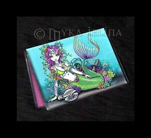 image is loading mermaid art tropical fairy rainbow id business card