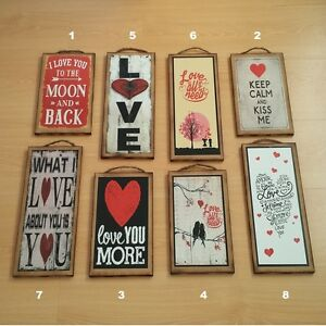 Love Romantic 8 Different Wooden Wall Plaque Placard Sign Gift Ebay
