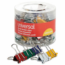 Universal Small Binder Clips 38 Capacity 34 Wide Assorted Colors 40pack