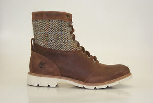 Timberland-Bramhall-6-Inch-Boots-Harris-Tweed-Ankle-Boots-Women-Shoes-8544B