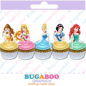 Cool Disney Princess Belle Ariel Cinderella Cupcake Toppers Birthday Cards Printable Inklcafe Filternl