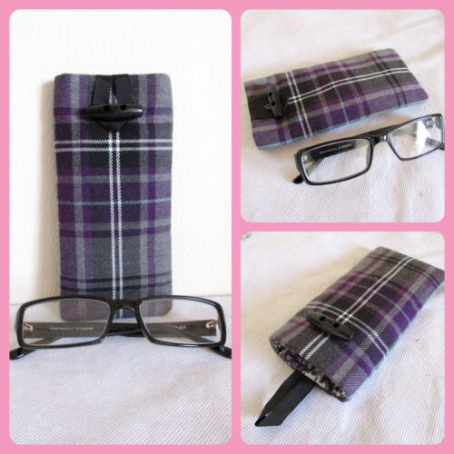 sunglasses case Tartan Reading glasses handmade colour choices 23 fabric