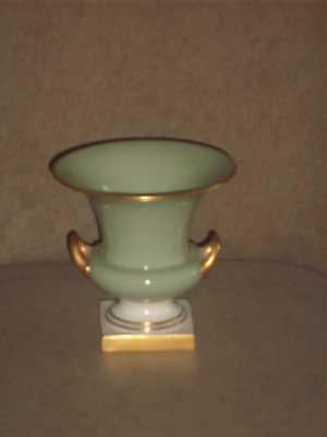 Vintage Lenox Celadon Green Vase With Gold Handles Trim And Base Old Blue Mark Ebay