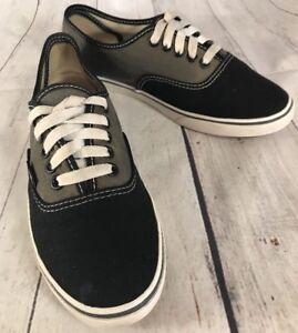 fa8c4c1d70 VANS T375 Skate Shoes Low Top Black Gray Mens 6.5 Womens 8 Lace Up ...