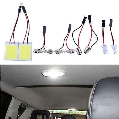 2pcs HID 24COB LED Panel Light Auto Car Interior Door Map Dome Light White