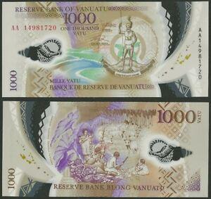 Vanuatu P15 1000 Vatu Polymer Uncirculated  2014 AC prefix@ EBS