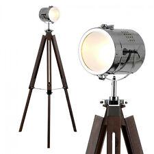 Stunning Dark Wood Tripod Floor Lamp  Studio Camera Floor Lamp