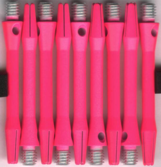 1.75in. 2ba NEON PINK V-GLO Aluminum Dart Shafts: 1 set of 3