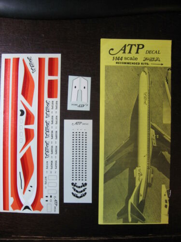 1//144 ATP DECALS BOEING 727-100 200 PSA PACIFIC SOUTHWEST AIRLINE DECALCOMANIE