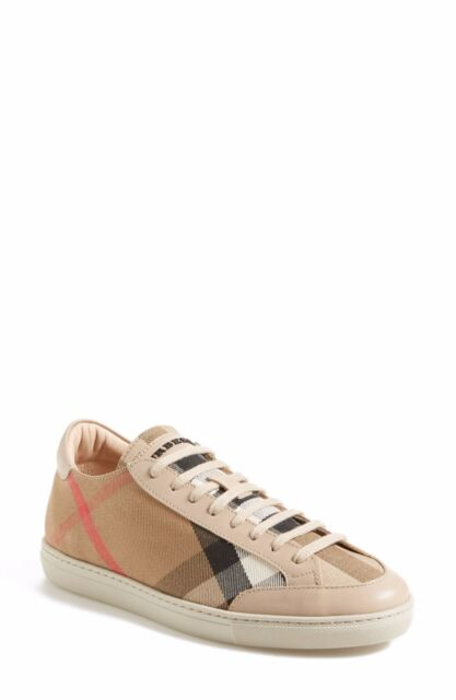 7ff2ea8c643 100% AUTHENTIC NEW WOMEN BURBERRY HARTFIELDS SEQUINED CHECK SNEAKERS US 10