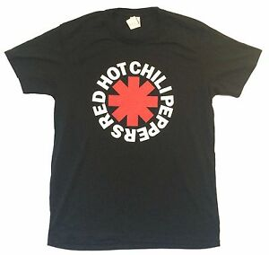 Red Hot Chili Peppers /'Classic Asterisk/' Black NEW /& OFFICIAL! T-Shirt