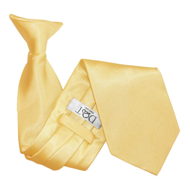 Unisex Mens Clip On Tie Satin Plain Formal Wedding FREE Pocket Square by DQT