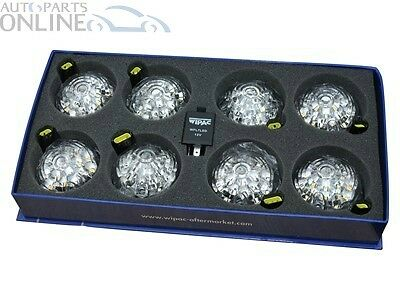 LAND ROVER DEFENDER WIPAC CLEAR LED LIGHT LAMP UPGRADE KIT - DA1191