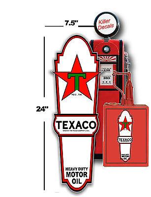 "TEXA-1 8/""X1.3/""  /""WHITE/"" TEXACO WORDING GASOLINE DECAL OIL CAN GAS PUMP LUBSTER"