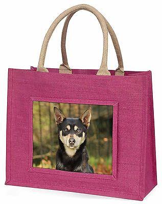 Australisch KELPIE Hund große rosa Einkaufstasche Weihnachten