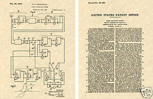 Armstrong FM RADIO 1933 Patent Art Print READY TO FRAME!!! circuit tube
