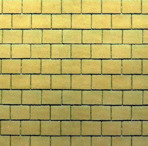 "/""yellow roof tile/"" self adhesive vinyl A4 sheet OO//HO gauge 1:76 scale"