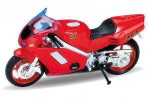 Welly-Modello-1-18-moto-Honda-NR-Rosso-4-3-034-Nuovo-E-Box