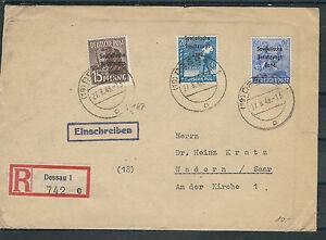 Sbz magnifique satzbrief le mi. Nº 200a-206a à partir de Berlin sont inscrits 11.10.48-afficher le titre d`origine baBz5Uhf-07152158-320672504