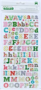 American Crafts Thickers Printed Chipboard Letter Stickers Eric Color Pattterned