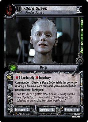 Perfectionist FOIL 0P7 Star Trek CCG 2E Tenth Anniversary Promo Borg Queen