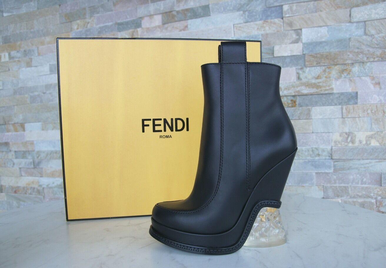 Lujo fendi talla 36,5 cuña plataforma botines zapatos zapatos zapatos botitas nuevo ex PVP 60cc43