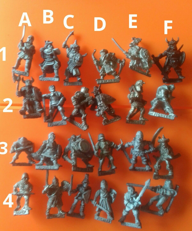 24x C01 Fighter citadel GW Juegos Workshop slotta luchadores Guerrero Caballeros