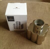 Nickel Plated Fluted Candle Holder By Michael Graves