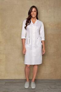 Dickies Style 84503 Button Front WHITE Nurse's Uniform Dress 40