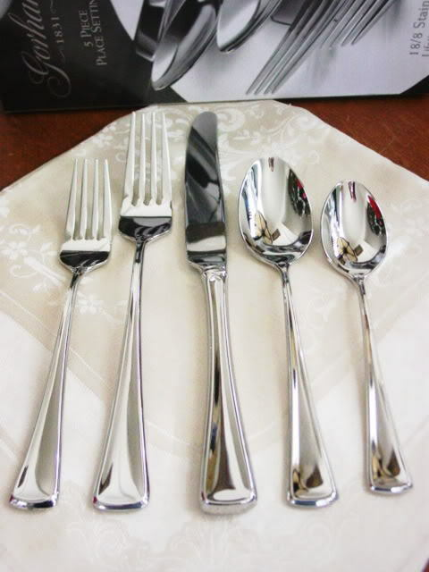 Gorham Stainless STEPHANIE 5 Pc Place Setting - NEW   BOX