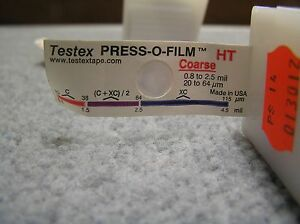 Details about Testex 122 Press-O-Film Coarse Grade (0 8-2 5 mils / 20-64  microns) Tape
