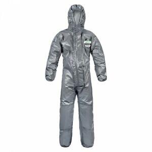 Lakeland-ChemMax-3-Grey-Chemical-Coverall-Overall-Hood-Type-3-4-Bio-Hazard-New